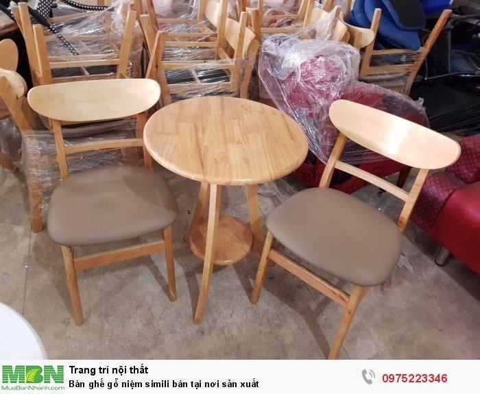Bàn ghế gỗ niệm simili bán tại nơi sản xuất1