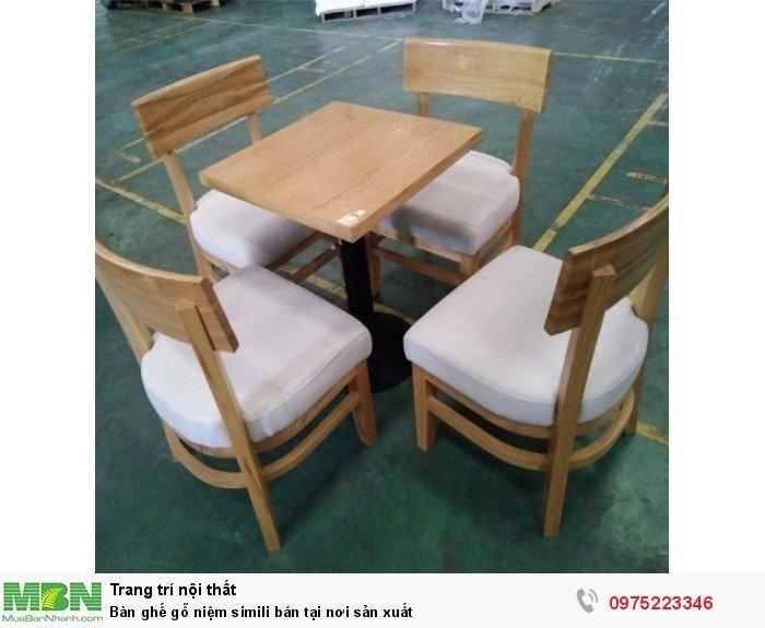 Bàn ghế gỗ niệm simili bán tại nơi sản xuất2