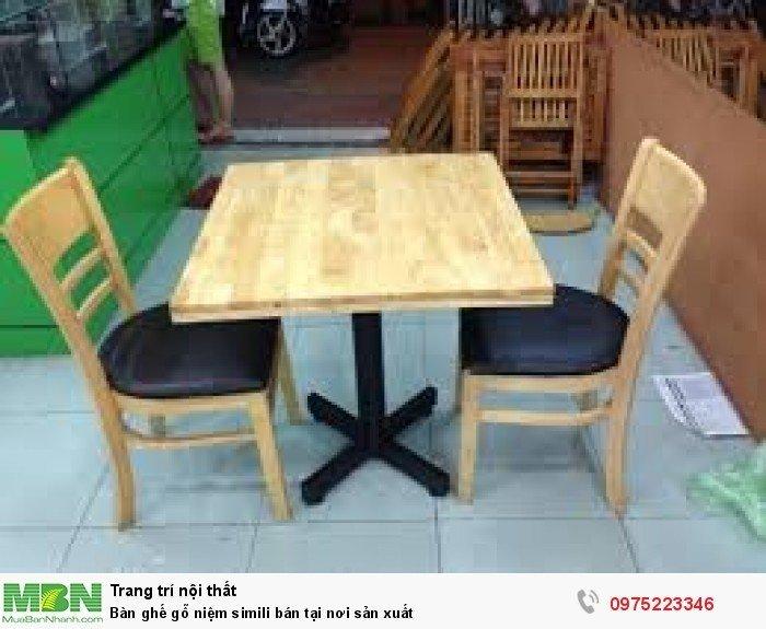 Bàn ghế gỗ niệm simili bán tại nơi sản xuất3