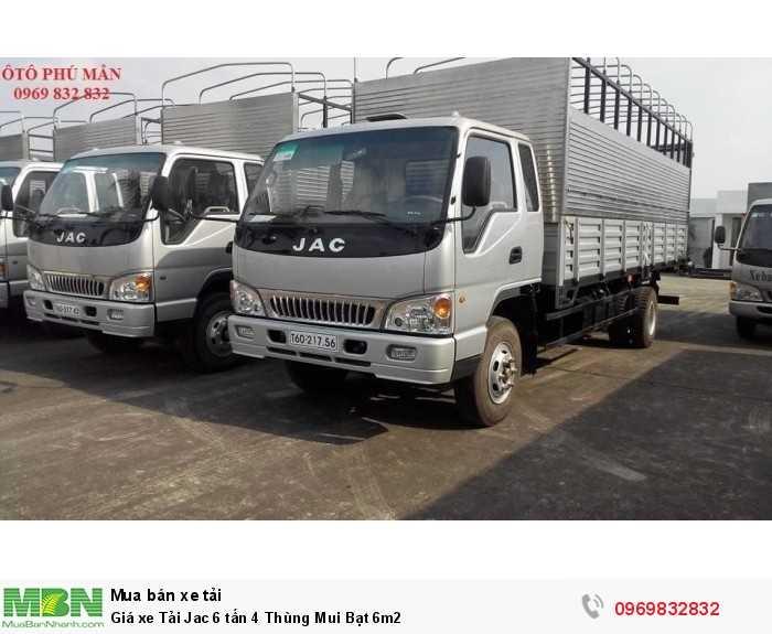 Giá xe Tải Jac 6 tấn 4 Thùng Mui Bạt 6m2