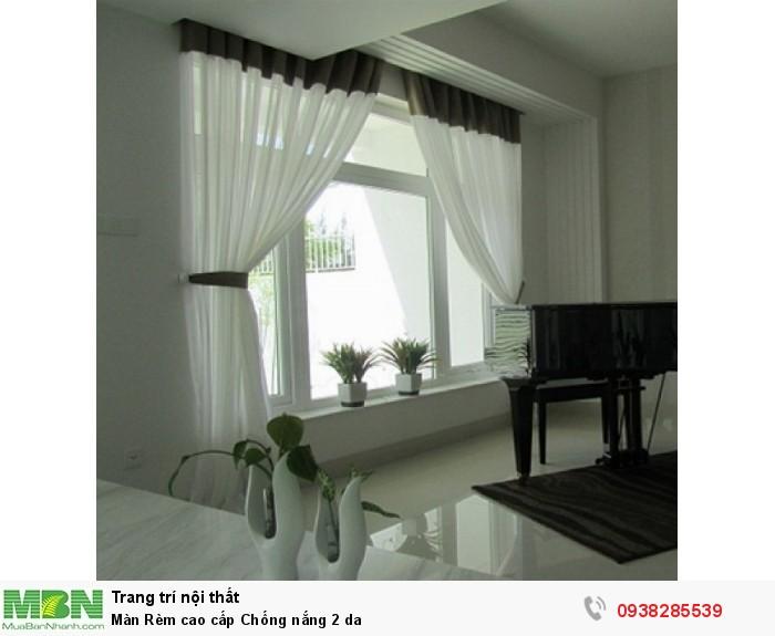 Màn rèm chống nắng tuyệt đối 2 da ( chống nắng 100% ) Giá 200k/mét vải0