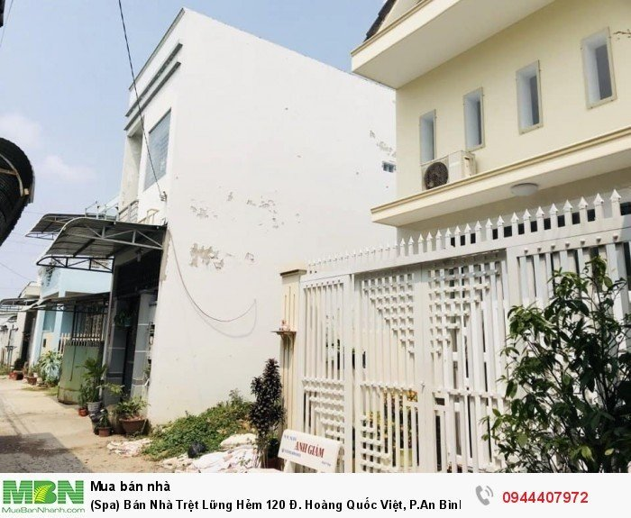 (Spa) Bán Nhà Trệt Lững Hẻm 120 Đ. Hoàng Quốc Việt, P.An Bình, Q.Ninh Kiều 4,5x13m Thổ Cưa