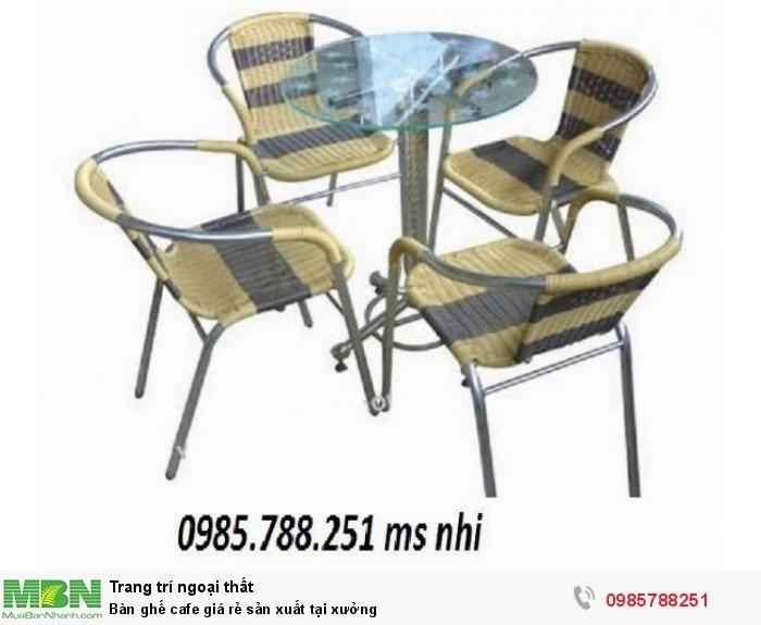 Bàn ghế cafe giá rẻ sản xuất tại xưởng