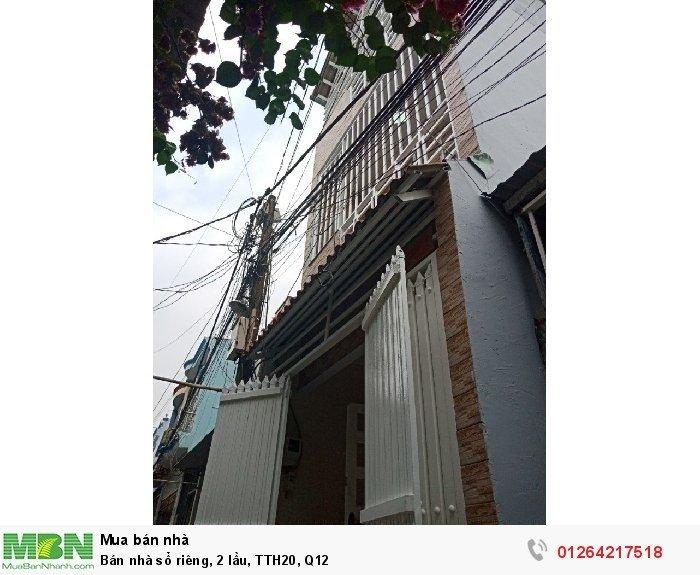 Bán nhà sổ riêng, 2 lầu, TTH20, Q12