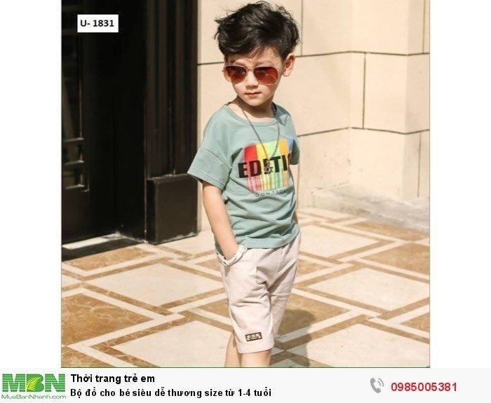 Bộ đồ cho bé siêu dễ thương size từ 1-4 tuổi0