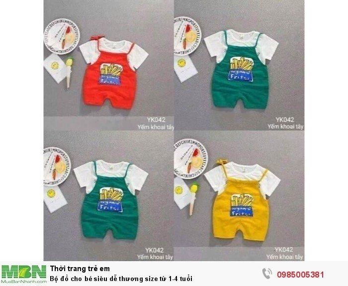 Bộ đồ cho bé siêu dễ thương size từ 1-4 tuổi1