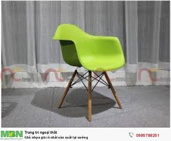 Ghế nhựa giá rẻ nhất sản xuất tại xưởng