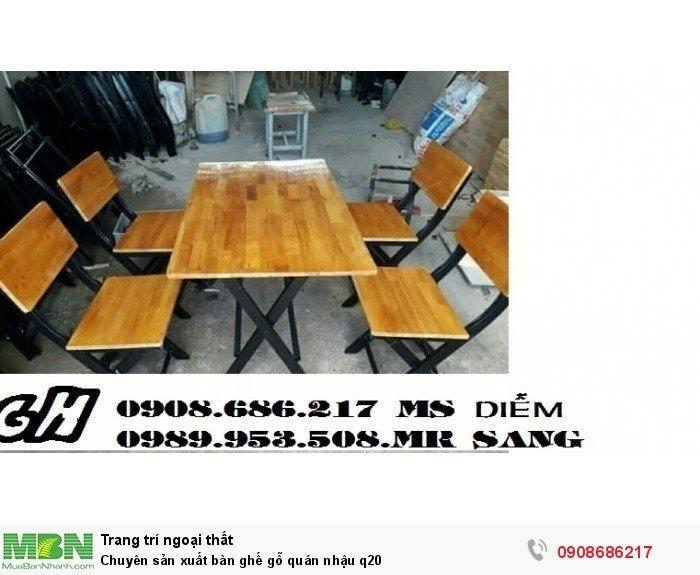 Chuyên sản xuất bàn ghế gỗ quán nhậu q200