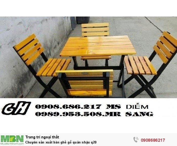 Chuyên sản xuất bàn ghế gỗ quán nhậu q201