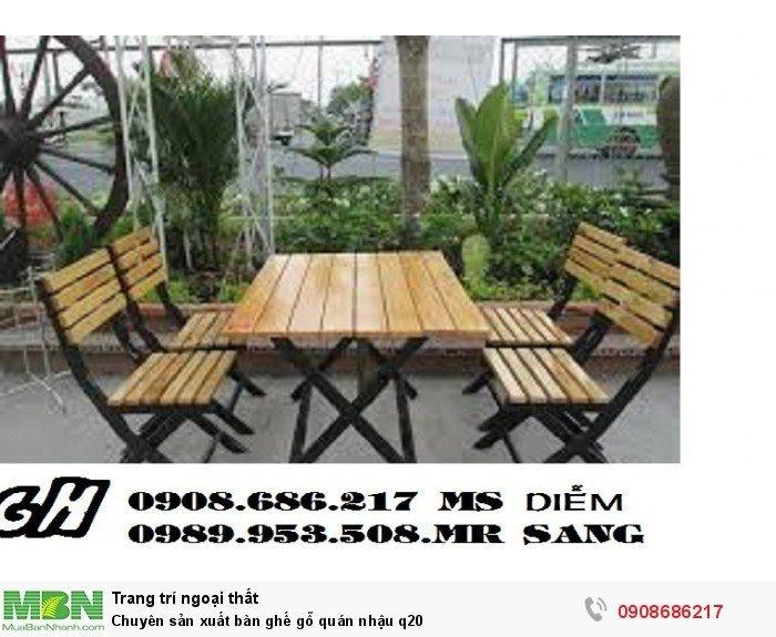 Chuyên sản xuất bàn ghế gỗ quán nhậu q203
