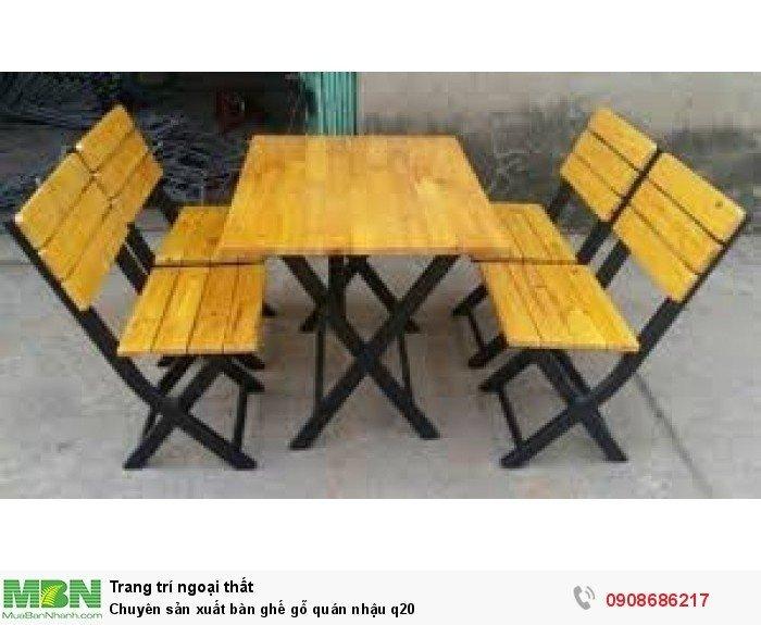 Chuyên sản xuất bàn ghế gỗ quán nhậu q204
