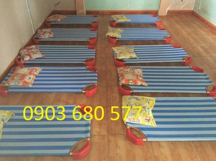 Giường lưới cho bé Bán giường lưới mầm non - bàn ghế mầm non3