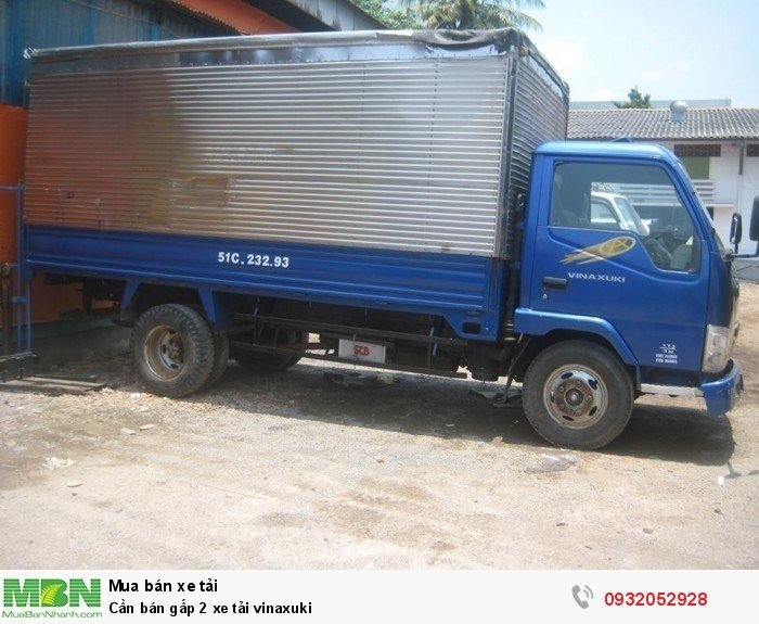 Cần bán gấp 2 xe tải vinaxuki