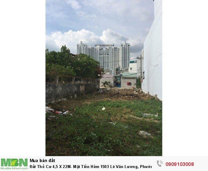 Đất Thổ Cư 4,5 X 22M- Mặt Tiền Hẻm 1503 Lê Văn Lương, Phước Kiển – Giá Rẻ