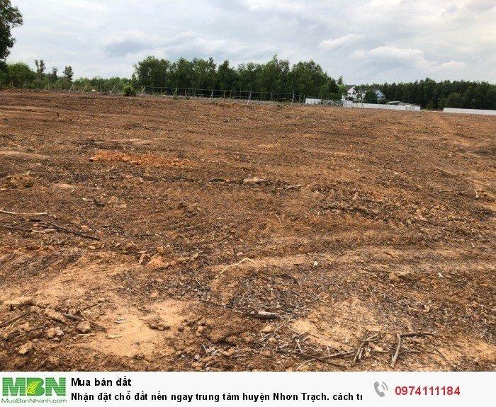 Nhận đặt chỗ đất nền ngay trung tâm huyện Nhơn Trạch. cách trung tâm hành chính 2km