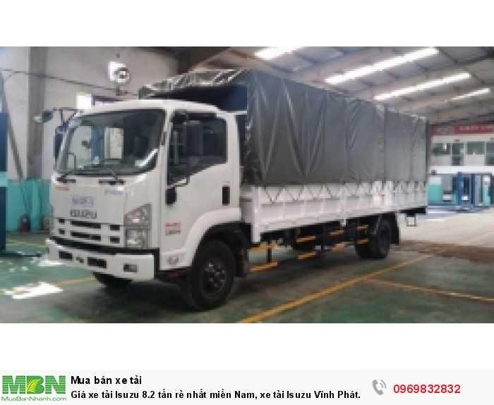 Giá xe tải Isuzu 8.2 tấn rẻ nhất miền Nam, xe tải Isuzu Vĩnh Phát chất lượng cao, đủ thùng hàng
