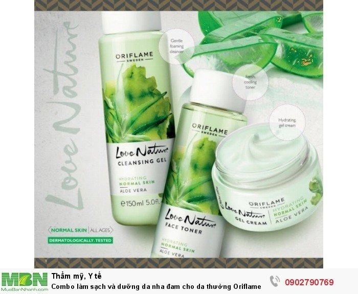 Combo làm sạch và dưỡng da nha đam cho da thường Oriflame0