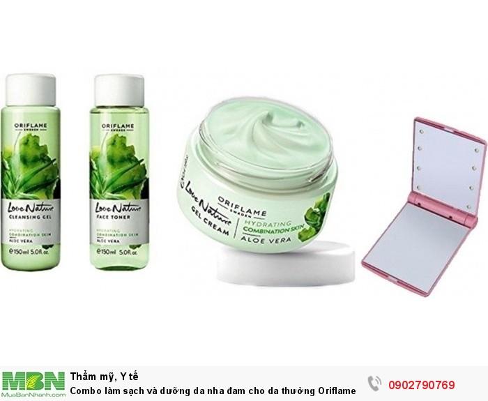 Combo làm sạch và dưỡng da nha đam cho da thường Oriflame1