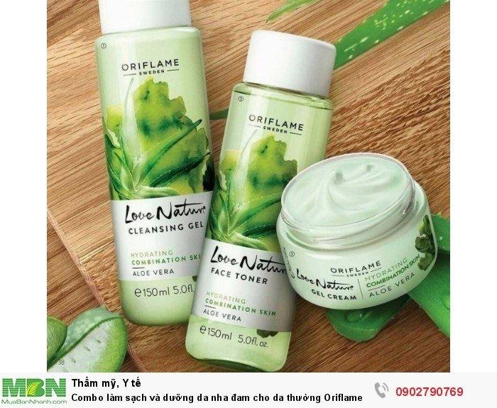 Combo làm sạch và dưỡng da nha đam cho da thường Oriflame2