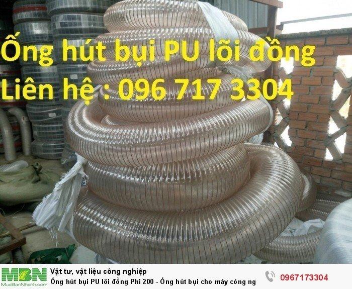 Ống hút bụi PU lõi đồng Phi 200 - Ống hút bụi cho máy công nghiệp - Ống hút bụi cho ngành gỗ0