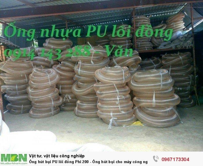 Ống hút bụi PU lõi đồng Phi 200 - Ống hút bụi cho máy công nghiệp - Ống hút bụi cho ngành gỗ2