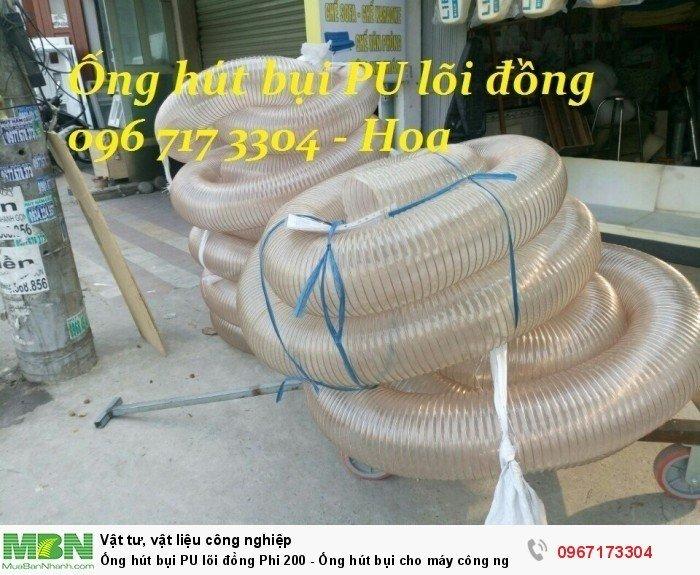 Ống hút bụi PU lõi đồng Phi 200 - Ống hút bụi cho máy công nghiệp - Ống hút bụi cho ngành gỗ4