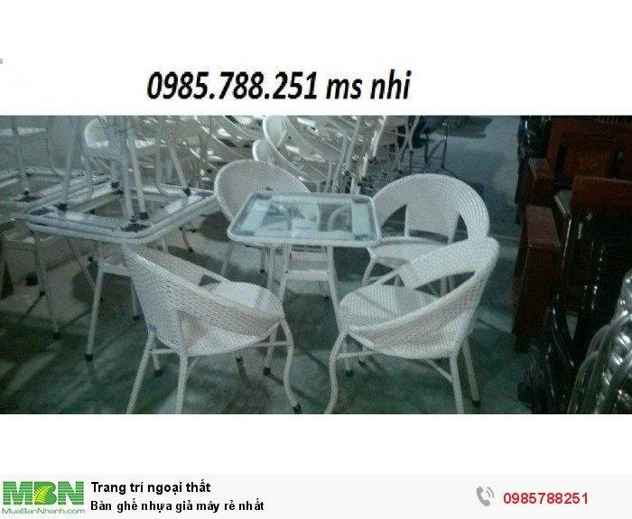 Bàn ghế nhựa giả mây rẻ nhất