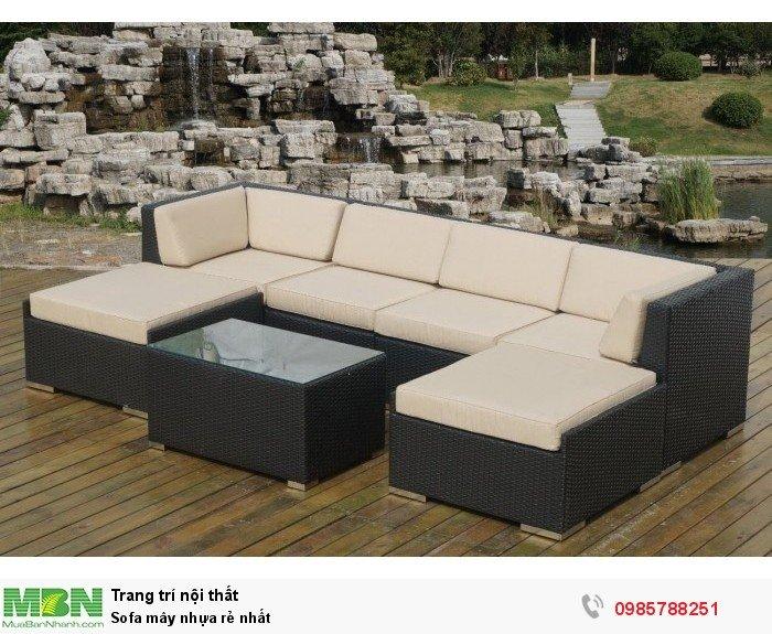 Sofa mây nhựa rẻ nhất0