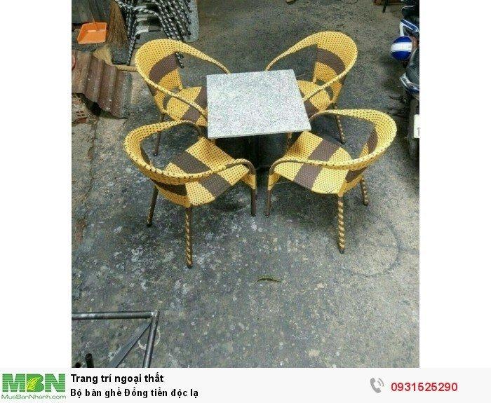 Bộ bàn ghế Đồng tiền độc lạ1