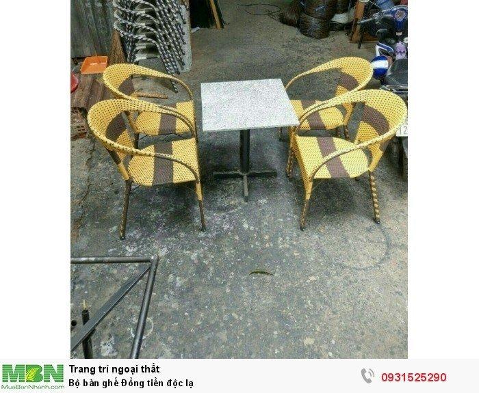 Bộ bàn ghế Đồng tiền độc lạ2