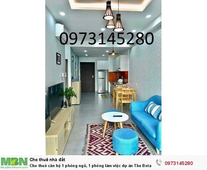Cho thuê căn hộ 1 phòng ngủ, 1 phòng làm việc dự án The Botanica, mặt tiền Phổ Quang
