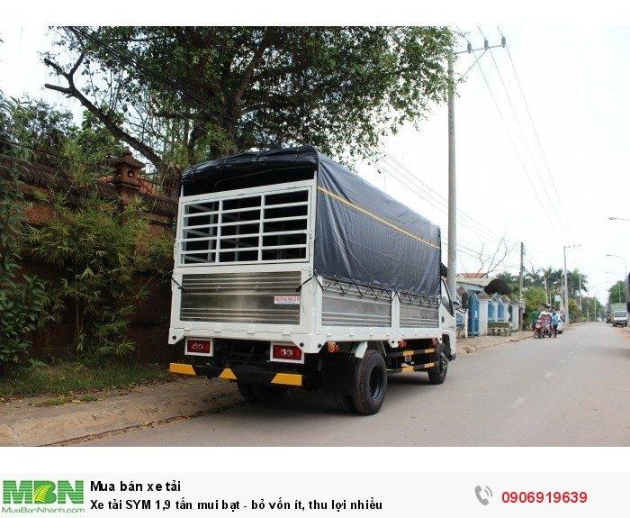 Xe tải SYM 1,9 tấn mui bạt - bỏ vốn ít, thu lợi nhiều 2