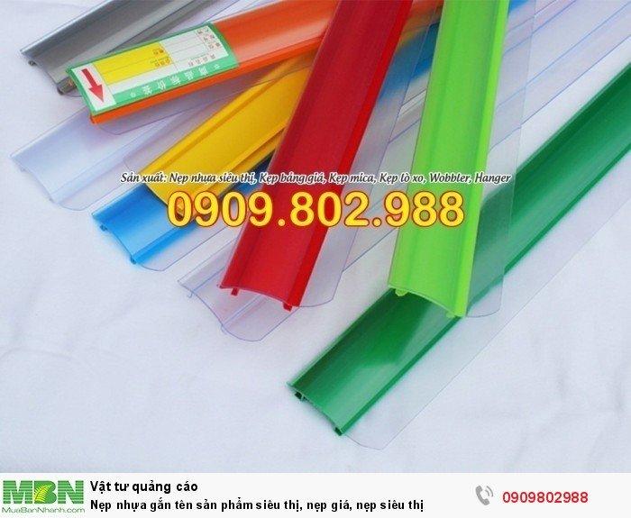 Nẹp nhựa gắn tên sản phẩm siêu thị, nẹp giá, nẹp siêu thị0