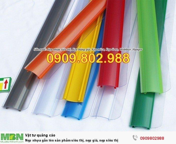 Nẹp nhựa gắn tên sản phẩm siêu thị, nẹp giá, nẹp siêu thị6