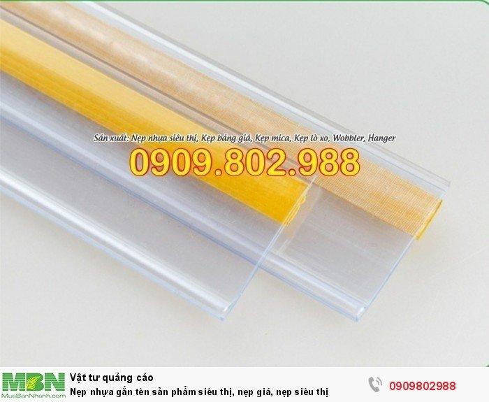 Nẹp nhựa gắn tên sản phẩm siêu thị, nẹp giá, nẹp siêu thị5