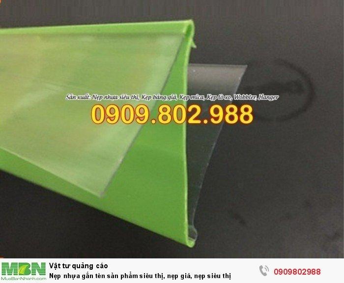Nẹp nhựa gắn tên sản phẩm siêu thị, nẹp giá, nẹp siêu thị9