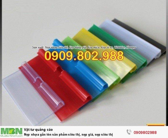 Nẹp nhựa gắn tên sản phẩm siêu thị, nẹp giá, nẹp siêu thị11
