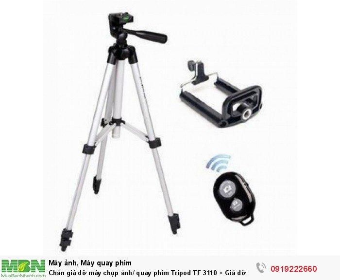 Chân giá đỡ máy chụp ảnh/ quay phim Tripod TF 3110 + Giá đỡ điện thoại + Remote0