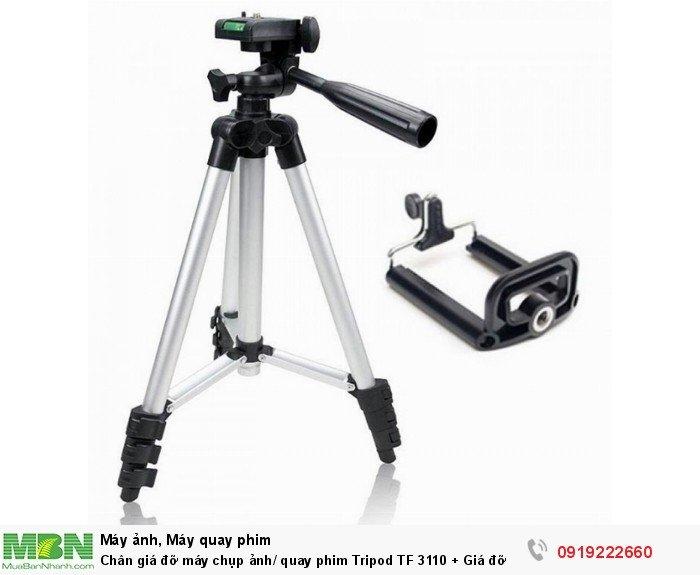 Chân giá đỡ máy chụp ảnh/ quay phim Tripod TF 3110 + Giá đỡ điện thoại + Remote1