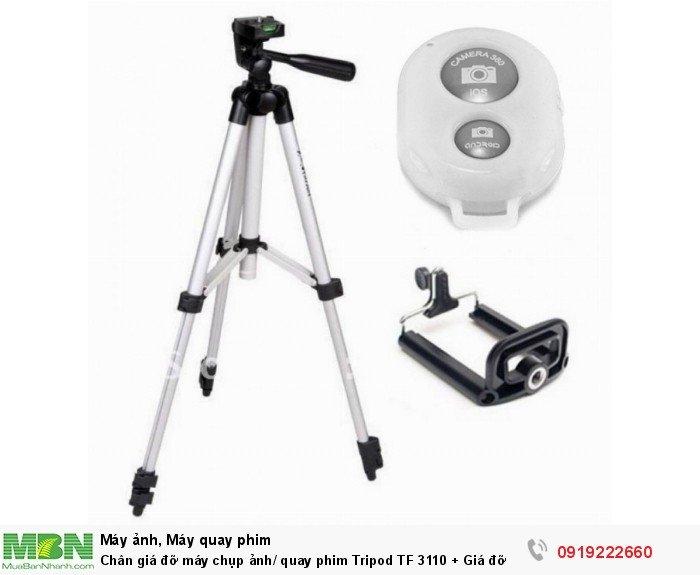 Chân giá đỡ máy chụp ảnh/ quay phim Tripod TF 3110 + Giá đỡ điện thoại + Remote2