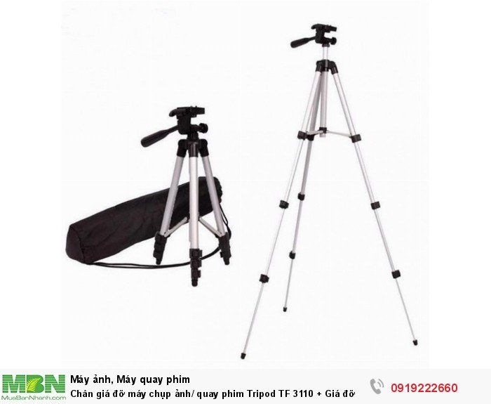 Chân giá đỡ máy chụp ảnh/ quay phim Tripod TF 3110 + Giá đỡ điện thoại + Remote3