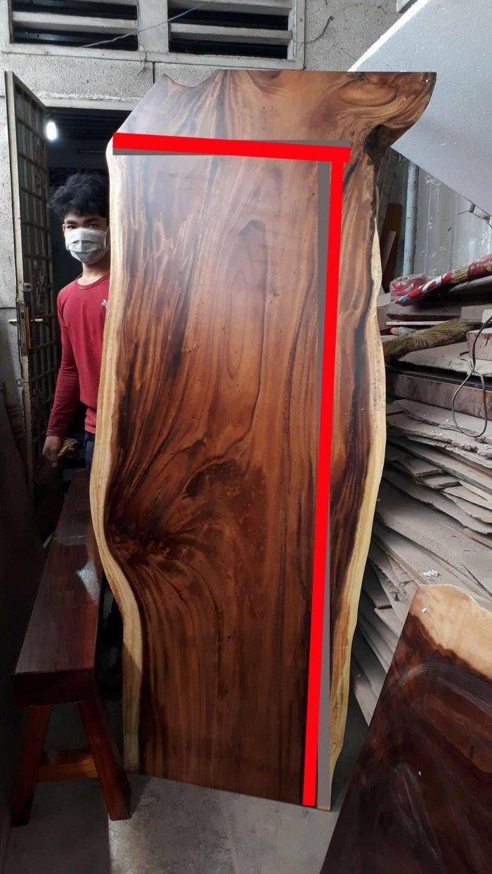 Bàn mặt gỗ me tây chân sắt4