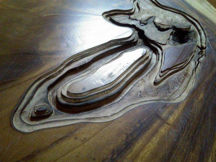 Bàn mặt gỗ me tây chân sắt3