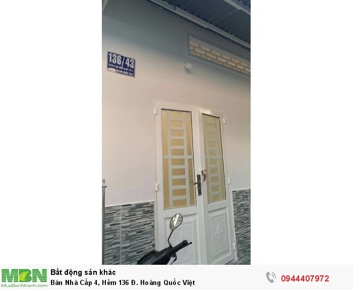 Bán Nhà Cấp 4, Hẻm 136 Đ. Hoàng Quốc Việt