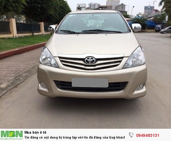 Nhà bán Toyota Innova 2012 vàng cát số sàn zin đẹp mê nhé