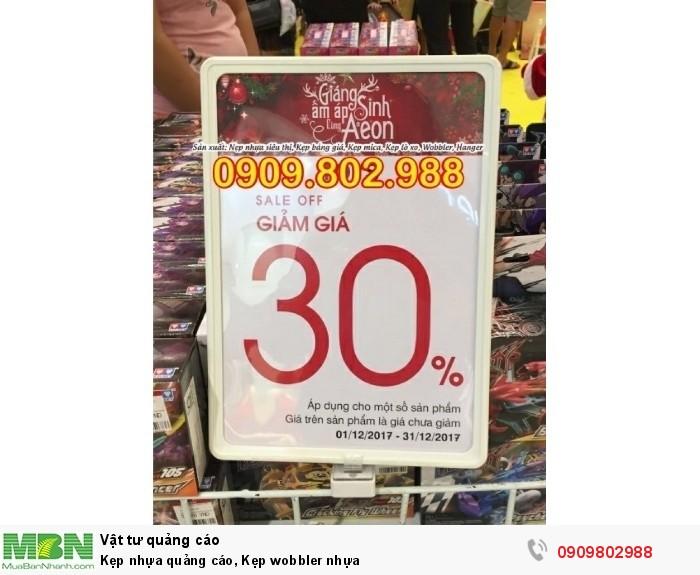 Kẹp nhựa quảng cáo, Kẹp wobbler nhựa15