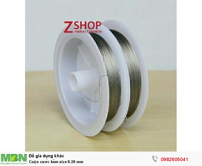 Cuộn cước kẽm size 0.38 mm3