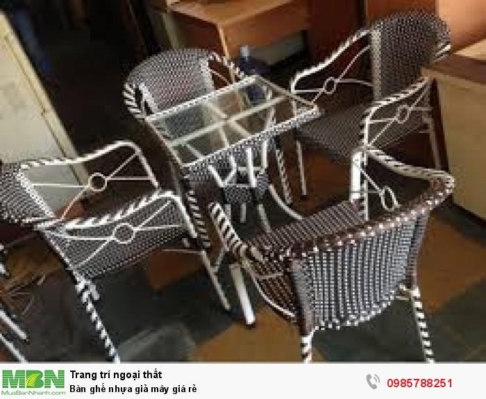 Bàn ghế nhựa giả mây giá rẻ0