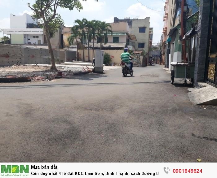 Còn duy nhất 4 lô đất KDC Lam Sơn, Bình Thạnh, cách đường Đinh Bộ Lĩnh 20m