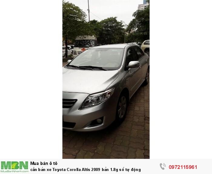 cần bán xe Toyota Corolla Altis 2009 bản 1.8g số tự động